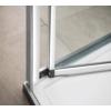 Polysan Easy Line harmónikaajtó 2 oldalfallal, 2 merevítővel, 100 x70 cm, transzparent üveg