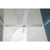 Polysan Easy Line harmónikaajtó oldalfallal, 70 x 70 cm, transzparent üveg