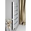 Sapho EGEON fürdőszobai radiátor, 595x818mm, 486W, ezüst struktúrált