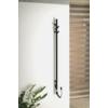 Sapho PASADOR Elektromos álló fürdőköppeny, törölköző szárító radiátor, időzítővel, 150x1500mm, 30W, matt fekete