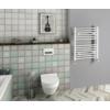 Aqualine Fürdőszobai radiátor, egyenes, 500x650mm, 315W, fehér
