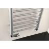 Sapho DINA fürdőszobai radiátor, 400x1560mm, 477W, metál ezüst