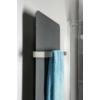 Sapho TABELLA fürdőszobai radiátor, 490x1590mm, 734W, matt antracit