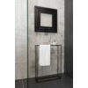 Sapho MONOPOLI fürdőszobai radiátor, 600x600mm, 312W, struktúrált antracit