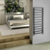 Sapho ZIG fürdőszobai radiátor, 500x1334mm, 490W, struktúrált antracit