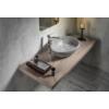 Punc beton mosdó, 53x17x39 cm, szürke