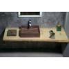 FORMIGO beton mosdó, 47,5x13x36,5cm, brick