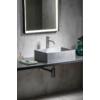 Formigo beton mosdó, 47,5x13x36,5cm, ezüst