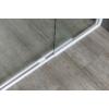 Aqualine Amico  nyíló zuhanyajtó, 100-122x185cm, fehér profil, 6mm transparent üveg