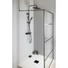 Sapho Teleszkópos zuhanyoszlop, termosztátos csapteleppel, zuhanyszettel, fekete