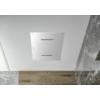 Sapho Slim fali fejzuhany, téglalap, esőztető, kaszkád, 220x500x2,4mm, polírozott inox