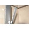 Aqualine Rome zuhanyoszlop csaptelepre köthető, csaptelep nélkül, mag.: 822 mm, alumínium