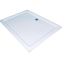 Sanotechnik Viva 80/120 aszimmetrikus öntött márvány zuhanytálca