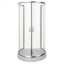 Sanotechnik Falsíkra szerelhető íves zuhanykabin 2 tolóajtóval (5 mm) 182,5 cm magas