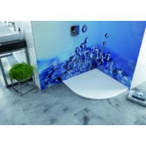 BP/FREE 80x80x2,5+STB fehér akril zuhanytálca
