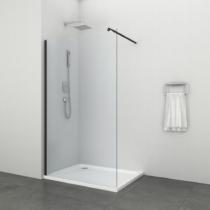 Sanotechnik Freedom II Black zuhanyfal Easy Clean (8 mm) 195cm magas