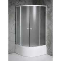 Aqualine Arlen íves zuhanykabin, 80x80X150cm, BRICK üveg (4mm) 150 cm magas