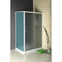 Aqualine Amadeo eltolható zuhanyajtó, 100cm, BRICK üveg