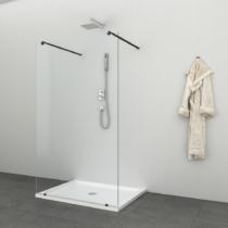 Sanotechnik Freedom I Black zuhanyfal Easy Clean (8 mm) 195cm magas