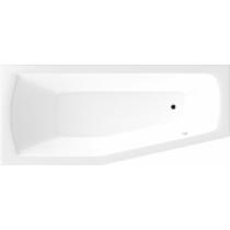 Aqualine Opava kád, láb nélkül, balos, 160x70x39cm, akril