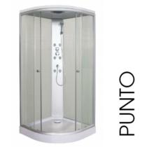 SANOTECHNIK PUNTO hidromasszázs zuhanykabin, fehér