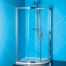Sapho Polysan Easy Line íves zuhanykabin, 1200x900mm, transzparent üveg (6mm) 190 cm magas