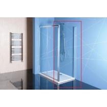 POLYSAN EASY LINE oldalfal, 800mm, transzparent üveg
