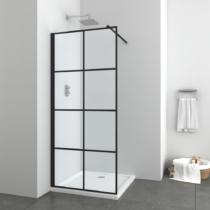 Sanotechnik Elite Black zuhanyfal (6 mm) 195cm magas
