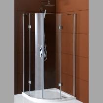 GELCO LEGRO kétajtós íves zuhanykabin, 900x900mm