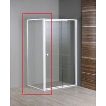 Aqualine Amico  fix oldalfal G80, G100 zuhanyajtóhoz, 88-88,5x185cm, 4mm transparent üveg