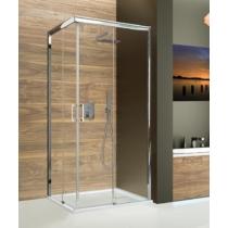 Sanplast KNL/FREEZONE-80x100-S sbW0 Balos szögletes zuhanykabin, tolós, sarokbelépős (5mm) 190cm magas