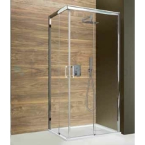 KNP/FREEZONE szögletes tolóajtós aszimmetrikus jobbos zuhanykabin