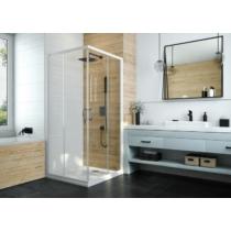 Sanplast 1/2 KN/BASIC-70-S biewW18 szögletes zuhanykabin, tolós, sarokbelépős 190cm magas