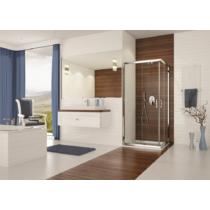 Sanplast KN/TX5b-80-S sbW0 szögletes zuhanykabin, tolós, sarokbelépős (5mm) 190cm magas
