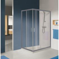 Sanplast KN/TX5b-80x100-S sbW0 szögletes zuhanykabin, tolós, sarokbelépős (5mm) 190cm magas