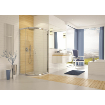 Sanplast KP4/TX5b-80-S sbW15 íves tolóajtós zuhanykabin (5mm) 190 cm magas