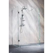 Sanotechnik Wide I háromrészes zuhanyfal Easy CLean (8 mm) 195cm magas, 80 cm oldallal