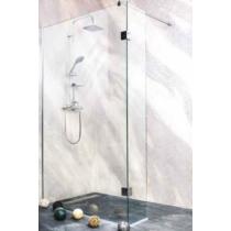 Sanotechnik Wide II kétrészes zuhanyfal Easy CLean (8 mm) 195cm magas