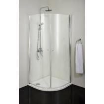 Sanotechnik Elegance íves 90x90 cm sarokkabin, 2 lengőajtóval, 195 cm magas