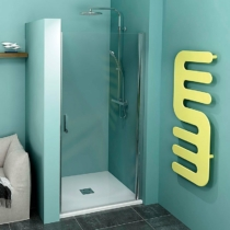 Sapho Polysan Zoom Line nyíló zuhanyajtó, 700mm, transzparent, króm