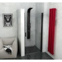 POLYSAN ZOOM LINE BLACK zuhanyajtó, 800mm, transzparent, fekete