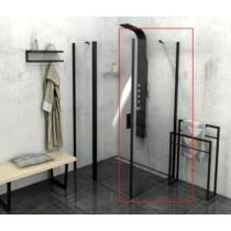 Sapho Polysan Zoom Line Black oldalfal, 1000mm, transzparent, fekete