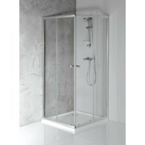 Aqualine Agga zuhanykabin, 80x80x185cm, 5mm es transzparent üveg, króm