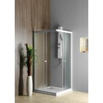 Aqualine Alain szögletes zuhanykabin, 90x90cm, BRICK üveg (4mm) 185cm magas