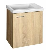 Aqualine Zoja mosdótartó szekrény, jobbos, 44x50x23,5cm, platina tölgy,