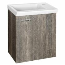 Aqualine Zoja mosdótartó szekrény, jobbos, 44x50x23,5cm, mali wenge,
