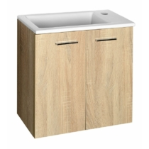 Aqualine Zoja mosdótartó szekrény, 49x50x23,5cm, platina tölgy, két ajtós