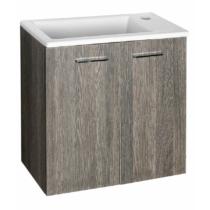 Aqualine Zoja mosdótartó szekrény, 49x50x23,5cm, mali wenge, két ajtós