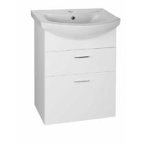 Aqualine Zoja mosdótartó szekrény, 2 fiókos, 50,5x74x30cm, fehér