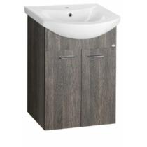 Aqualine Zoja mosdótartó szekrény, 2 ajtós, 50,5x74x30cm, mali wenge